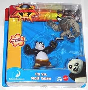 Kung Fu Panda V7574 - Set de 2 figuras de acción, 5.7 cm