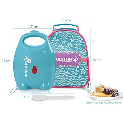 Holstein Housewares HM-09107J-BU Mini Waffle Stick Maker Kit - Blue