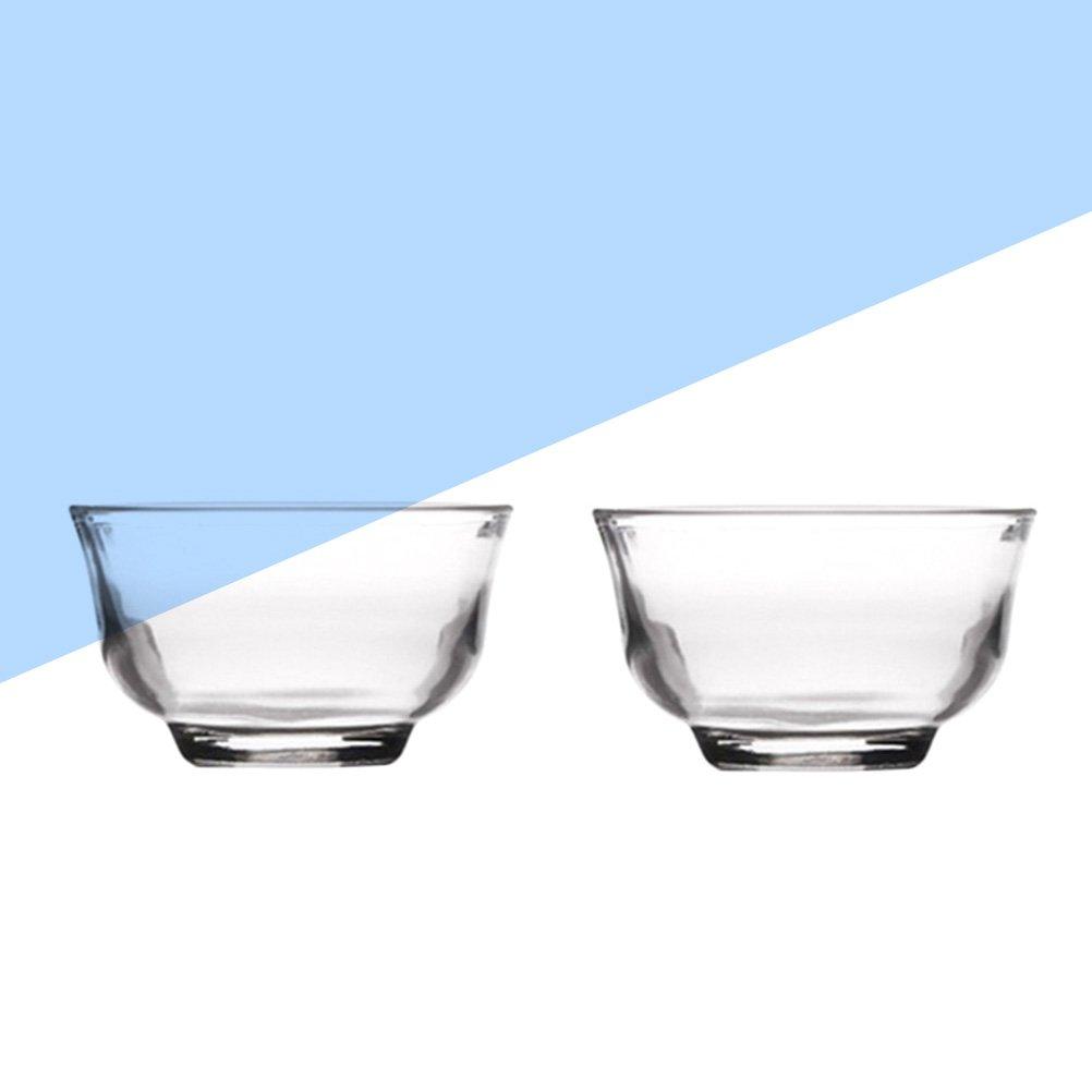 BESTONZON Ciotoline Tazze di t/è di vetro 2PCS
