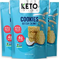 Keto Cookies Faster Fat Burn MCT - (Buttery Coconut) Low Carb Snacks food. Gluten Free Healthy Diabetic snacks Atkins Keto Friendly desserts. Zero Carb added High Fat Bomb Vegan Ketosis mini bites