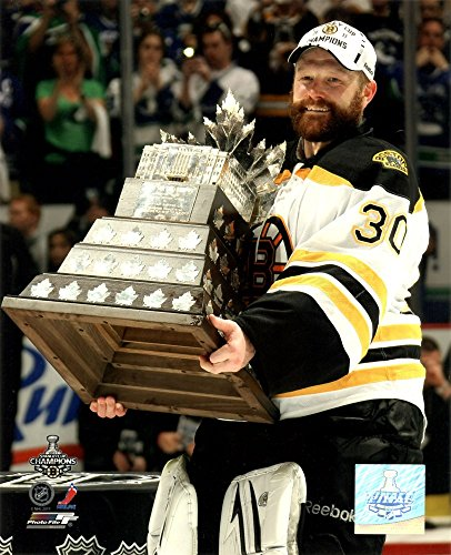 Conn Smythe Trophy - Tim Thomas with the Conn Smythe Trophy Game 7 of the 2011 NHL Stanley Cup Finals(#44) Art Print, 8 x 10 inches