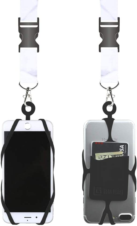 Gear Beast Universal Cell Phone Lanyard Compatible with iPhone, Galaxy & Most Smartphones Includes Phone Case Holder with Card Pocket,Soft Neck Strap with Breakaway Clasp & Detachable Convenience Clip