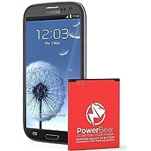 PowerBear Samsung Galaxy S3 Battery | 2,100 mAh Li-Ion Battery for the Galaxy S3 | S3 Spare Battery [24 Month Warranty]