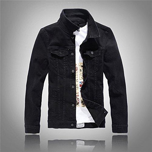 Maniche Versione Lavaggio xxxl Jacket Coreana Jeans Camicia Marea Denim Lunghe Uomini Della A Grigio Nero PBwYdAqB
