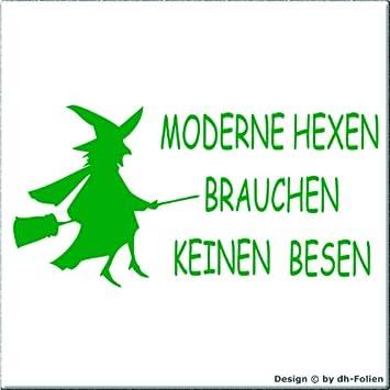 Cartattoo4you Ak 00541 Hexe Moderne Hexen Brauchen Keinen Besen Autoaufkleber Aufkleber Farbe Grün In 24 Farben Erhältlich 20 X 10 Cm Glänzend Auto