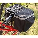Double Bike Panniers Yosoo Water-resistant Cycling Bicycle Bike Pannier Rear Seat Bag Rack Trunk Rack Back Rear Seat Tail Carrier Trunk Double Pannier Bag