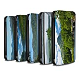 STUFF4 PU Leather Wallet Flip Case/Cover for Apple iPhone X/10 / Pack 14pcs Design / Scottish Landscape Collection