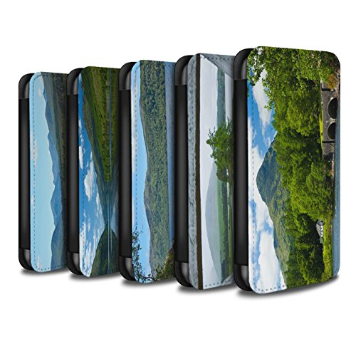 STUFF4 PU Leather Wallet Flip Case/Cover for Apple iPhone X/10 / Pack 14pcs Design / Scottish Landscape Collection by Stuff4®