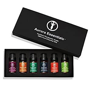 51IKbA5CMgL. SS300  - Aromatherapy Essential Oils 100%PURE Top 6 Gift Set Box. Kid Safe Pack. Boost Immunity, Health, Calming Sleep, Energy & Get Relief from Arthritis, Anxiety & Stress.High Quality Oils.