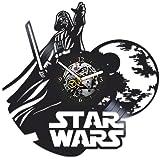 Star Wars Clock, Star Wars Gift For Man, Vintage Vinyl Record, Star Wars Gift For Boy, Wall Clock...