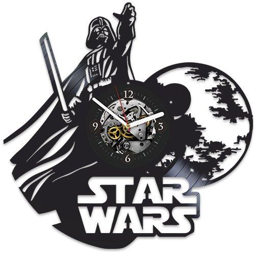 Star Wars Clock, Star Wars Gift For Man, Vintage Vinyl Record, Star Wars Gift For Boy, Wall Clock Large, Star Wars Birthday Gift Darth Vader, Xmas Gift For Man, Gift Ideas For Fans Star Wars -