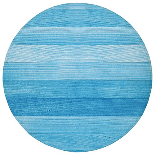(Round Rug Mat Carpet,Light Blue,Wooden Planks Painted Texture Image Oak Tree Surface Maple Pine Board Stripes Decorative,Light Blue,Flannel Microfiber Non-slip Soft Absorbent,for Kitchen Floor Bathroo)