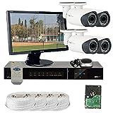 GW Security VD4CHH9 4 CH HD-SDI DVR 4 x HD-SDI 1/3-Inch CMOS Camera 720P Video Output 2.8 to 12 mm Lens, 42-IR LED, 110-Feet IR Distance