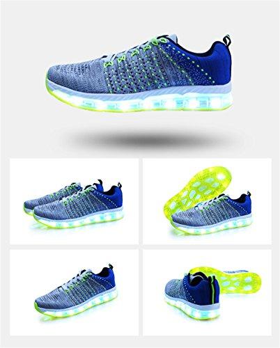 Les LED Cool Hommes Chaussures Flashing Femmes Rechargeable des USB allument pour Sneaker Fashion xTqw1Y4q5