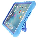 Gumdrop Cases Hideaway Stand for Apple iPad Mini 4 (Late 2015) A1538 A1550 Rugged Tablet Case Shock Absorbing Cover, Light Blue / Royal Blue