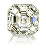 RINGJEWEL 3.92 CT VVS1 ASSCHER Cut Loose Real Moissanite Use 4 Pendant/Ring Off White Light Brown Color