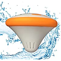 Cosmo The Floating Rechargeable Waterproof Bluetooth Speaker Orange With LED Color Changing Lighting Effects