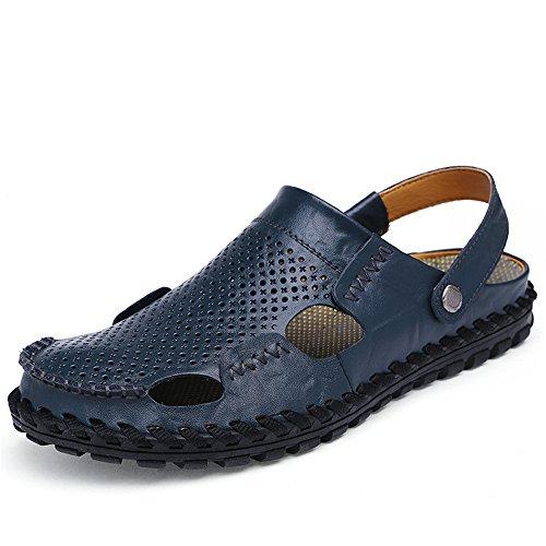 per regolabili la antiscivolo pelle Blue traspiranti in e Color all'aperto Sandali il adatti spiaggia sandali 40 al Size Blue tempo per da coperto EU sandali libero uomo 8nqfvxpO0w