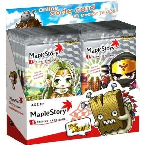 Maple Booster Pack - Maple Story Card Game NPC Heroes Series 4 Booster Box (24 Packs)