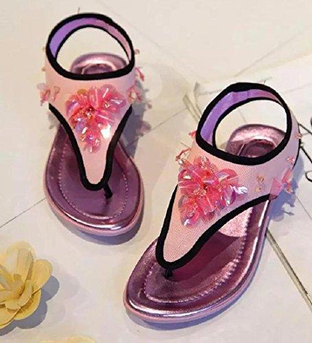 2017 nuevos zapatos netos planos del diamante de las sandalias del emparedado del paño del acoplamiento del verano 3