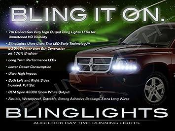 Dodge Ram Dakota blinglights tiras de LED Head Light DRL Day Time Running lámparas (todos los años): Amazon.es: Coche y moto