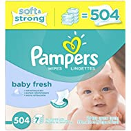 Pampers Baby Wipes Baby Fresh 7X Refill, 504 Count