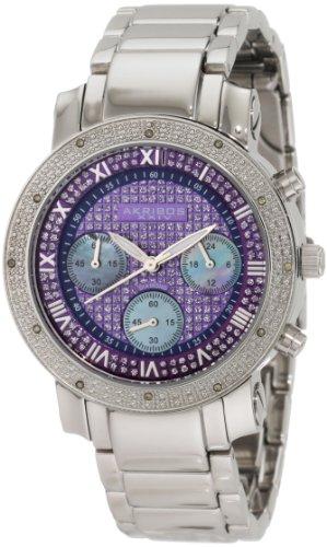 Akribos XXIV Women's AK440BU Diamond Quartz Chronograph Blue Round Bracelet Watch