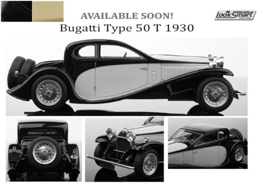 1/43 ブガッティ タイプ 50 T 1930 (ブラック/クリーム) LS416C
