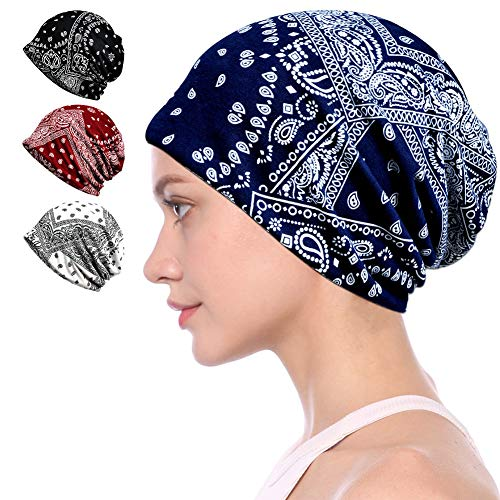 Cotton Face Bandanas for Sports Headwear Headband Neck Gaiter Chemo Cap Hair Loss Beanie Nightcap