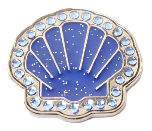 (Navika Sea Shell Swarovski Crystal and Glitz Ball Marker with Hat Clip (Blue))