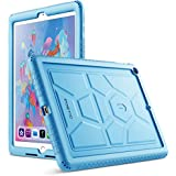 Poetic TurtleSkin New iPad 9.7 Inch 2017/2018 Cover Case with Heavy Duty Protection Silicone and Sound-Amplification Feature for Apple iPad 9.7 2017 / iPad 9.7 2018 Blue