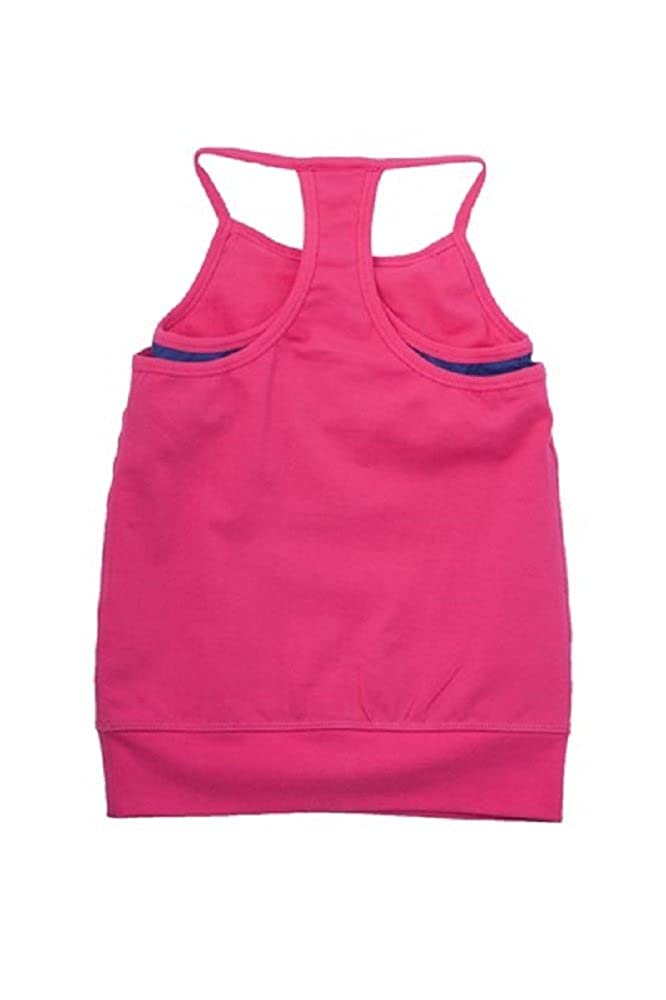 Adorable Essentials FlutterFit Girls Double Layer Tank Bright Pink