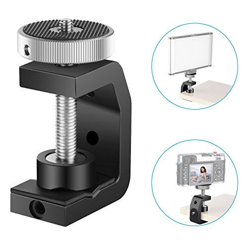 Neewer Multi-Function C-Clamp - Aluminum Camera Mount Clip Bracket with 1/4