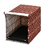 """Dog Crate Cover for Wire Crates, Fits Most 30"""" inch Dog Crates. Easy to Put On, Take Off, and Adjust - Cover only - Gold -M -  Pethiy"""
