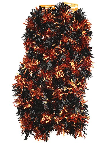 Halloween Tinsel Garland - 18 feet (Orange and Black) ()