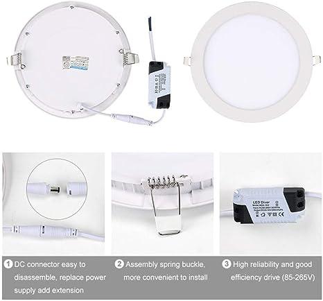BFMBCHDJ Panel de luz LED Foco delgado LED 220V 110V Foco ...