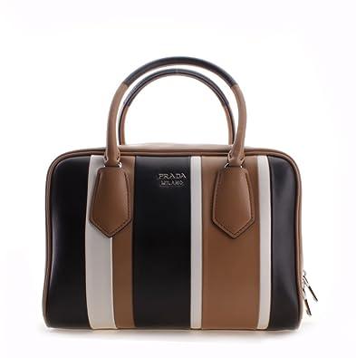 cfc9e363e09173 Prada Striped Pattern Calf Baiadera Leather Inside Bag Shoulder Handbag:  Prada: Amazon.co.uk: Shoes & Bags
