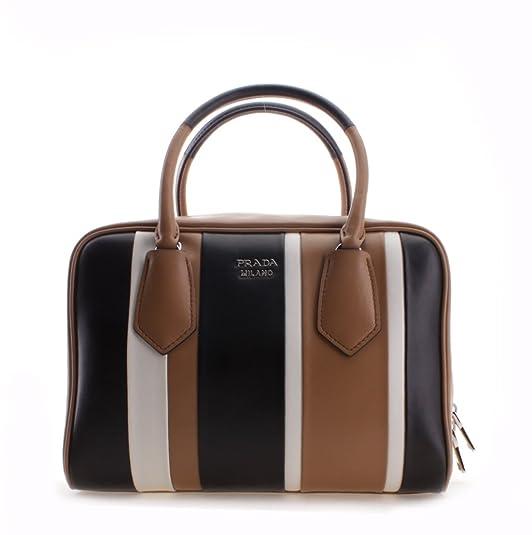 30e43b4dc0 Prada Striped Pattern Calf Baiadera Leather Inside Bag Shoulder Handbag   Amazon.ca  Shoes   Handbags