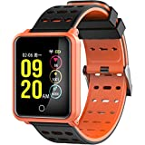 Hulorry Fitness Watch for Women, Sports Fitness Bracelet for Kids/Women/Men Bluetooth Fitness Tracker Watch Waterproof Blood Pressure Monitor Sports Fitness Tracker for Android & iPhone
