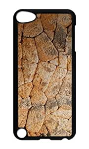 Ipod 5 Case,MOKSHOP Cool stone wall Hard Case Protective Shell Cell Phone Cover For Ipod 5 - PC Black