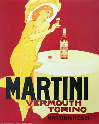 - Martini and Rossi - Vermouth Torino. Vintage Advertising Print Poster (16 x 20)