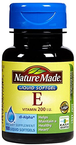 Nature Made Vitamin E 200 IU Softgels, 100 ct
