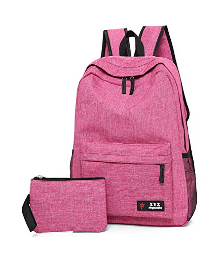 fonction Rose loisirs Mignon scolaire Voyages Toile Rose Sac multi Keshi à dos qfUYw6ST4x