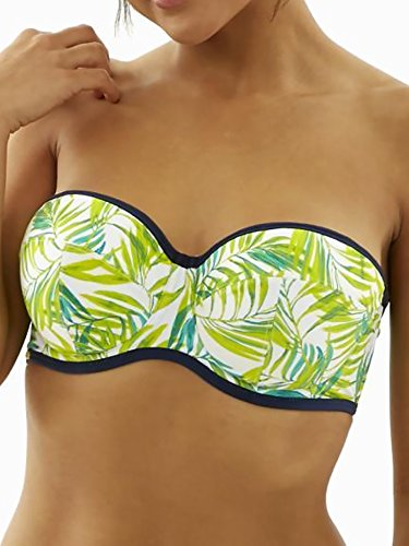 Cleo by Panache Women's Avril Bra-Sized Bandeau Bikini Top, Palm Print, 32 - Store Outlet Spring Palm