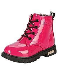 WUIWUIYU Kid's Boy's Girl's Waterproof Lace-Up Ankle Boots(Toddler/Little Kid/Big Kid)