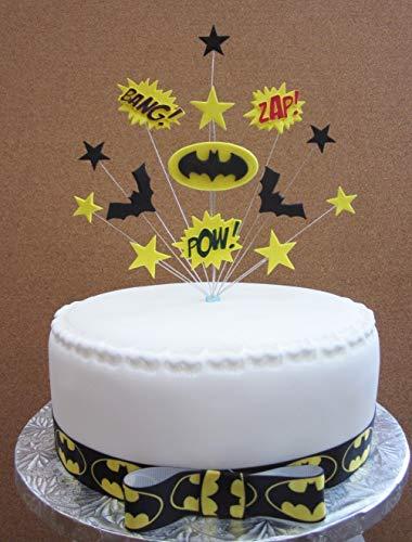 Brilliant Batman Superhero Birthday Cake Topper Suitable For A 20Cm Cake Funny Birthday Cards Online Necthendildamsfinfo