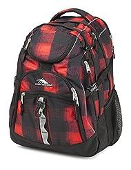 High Sierra 53671-4937 Access Backpack, Buffalo Plaid/Black, International Carry-On