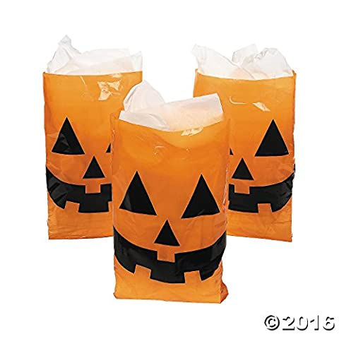Jack-O-Lantern Trick or Treat Bags (Pack of 50)
