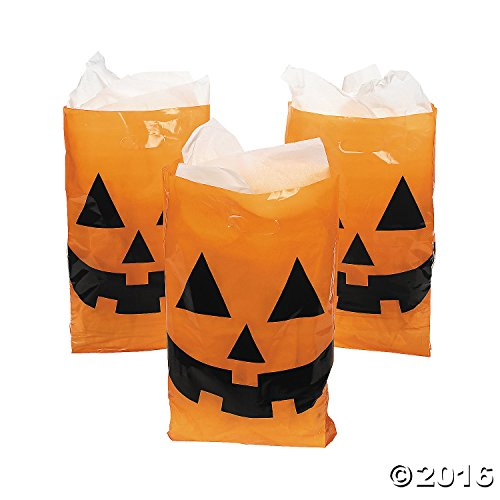 Jack-O-Lantern Trick or Treat Bags (Pack of 50) (Jack O Lantern Halloween Makeup)