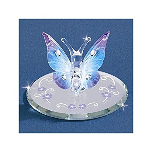(Goldia Glass Baron Butterfly, Blue with Crystals)